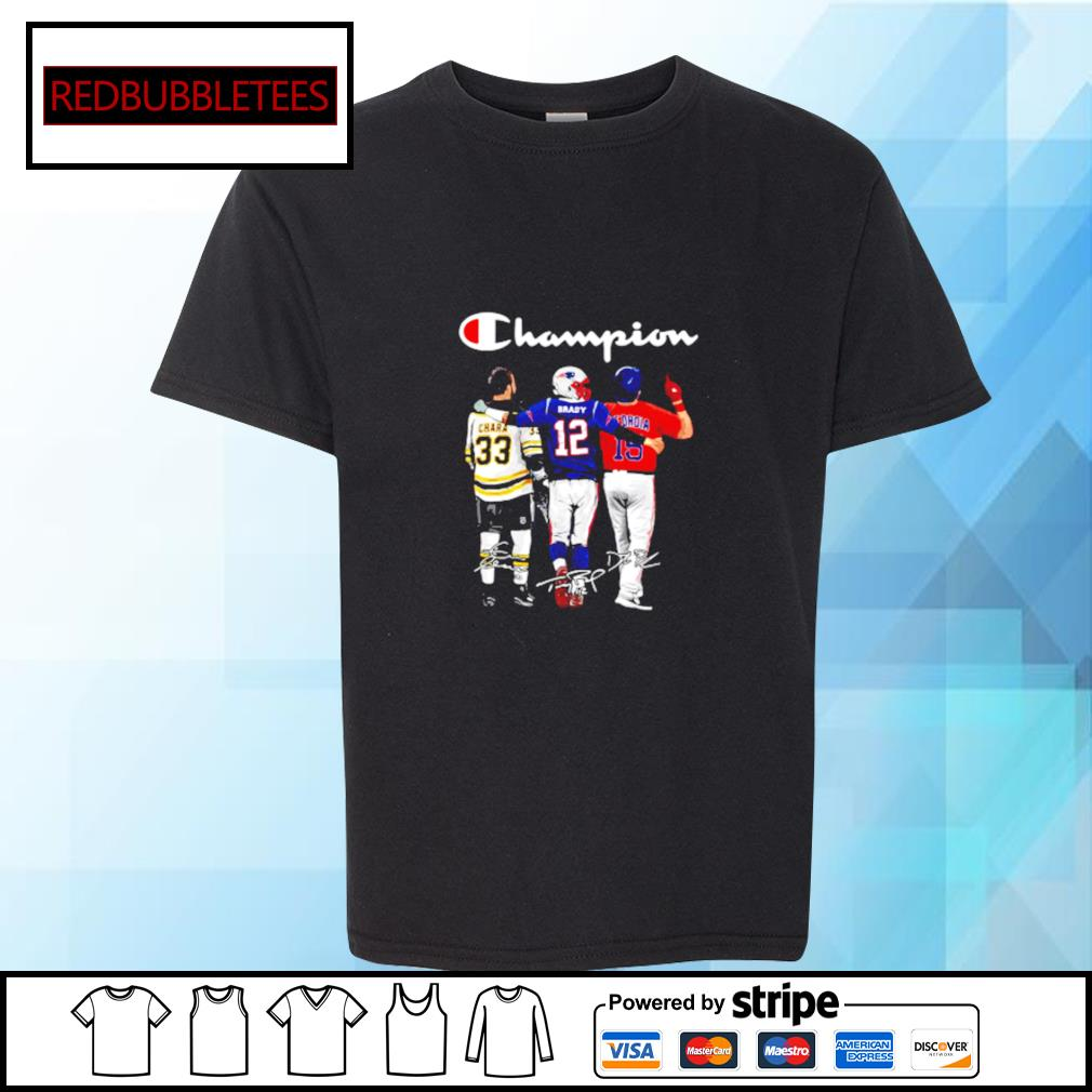 Champion Chara Brady And Pedroia Signatures Shirt Youth-tee