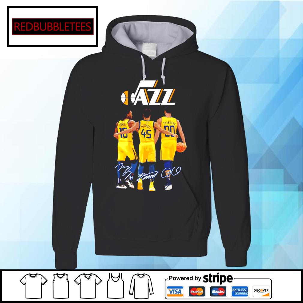 Utah Jazz Conley and Mitchell and Clarkson signature Hoodie