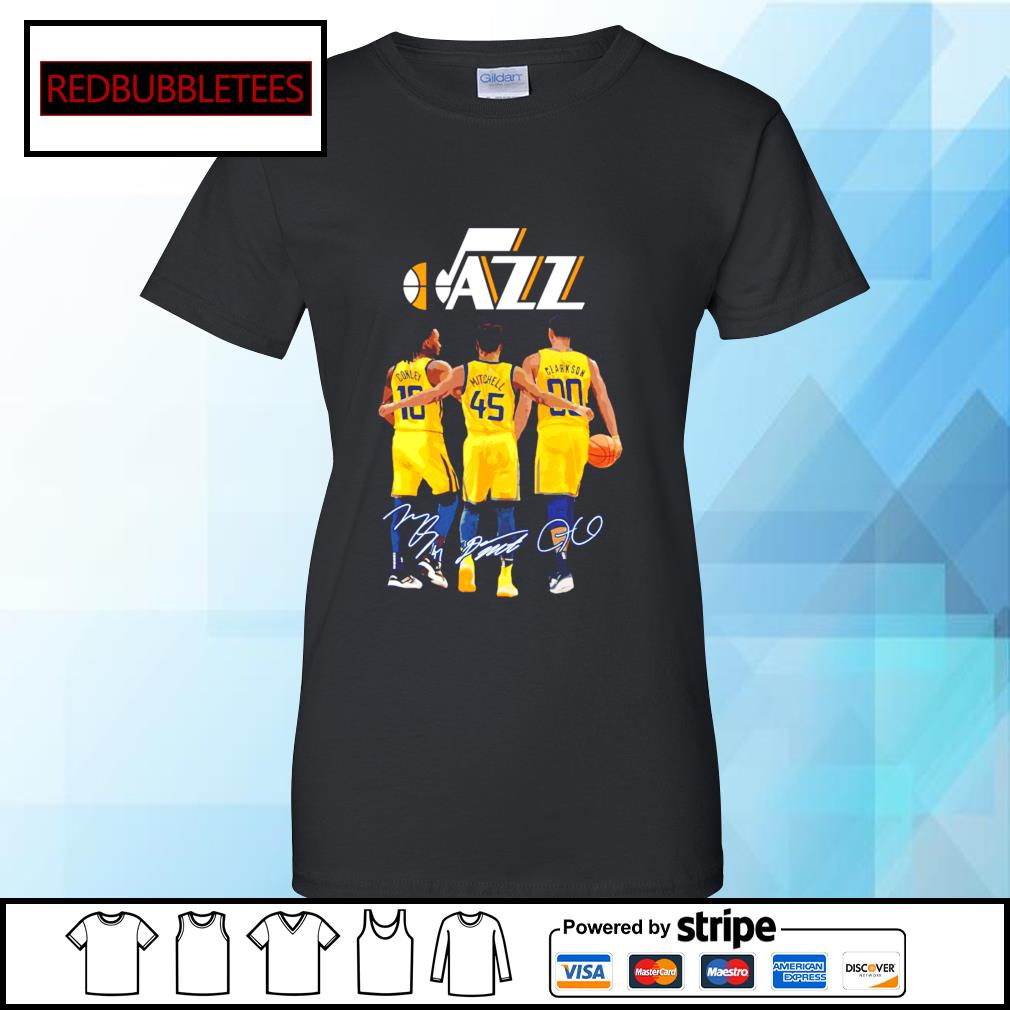 Utah Jazz Conley and Mitchell and Clarkson signature Ladies tee
