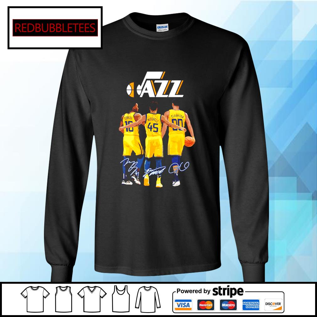 Utah Jazz Conley and Mitchell and Clarkson signature Longsleeve-tee