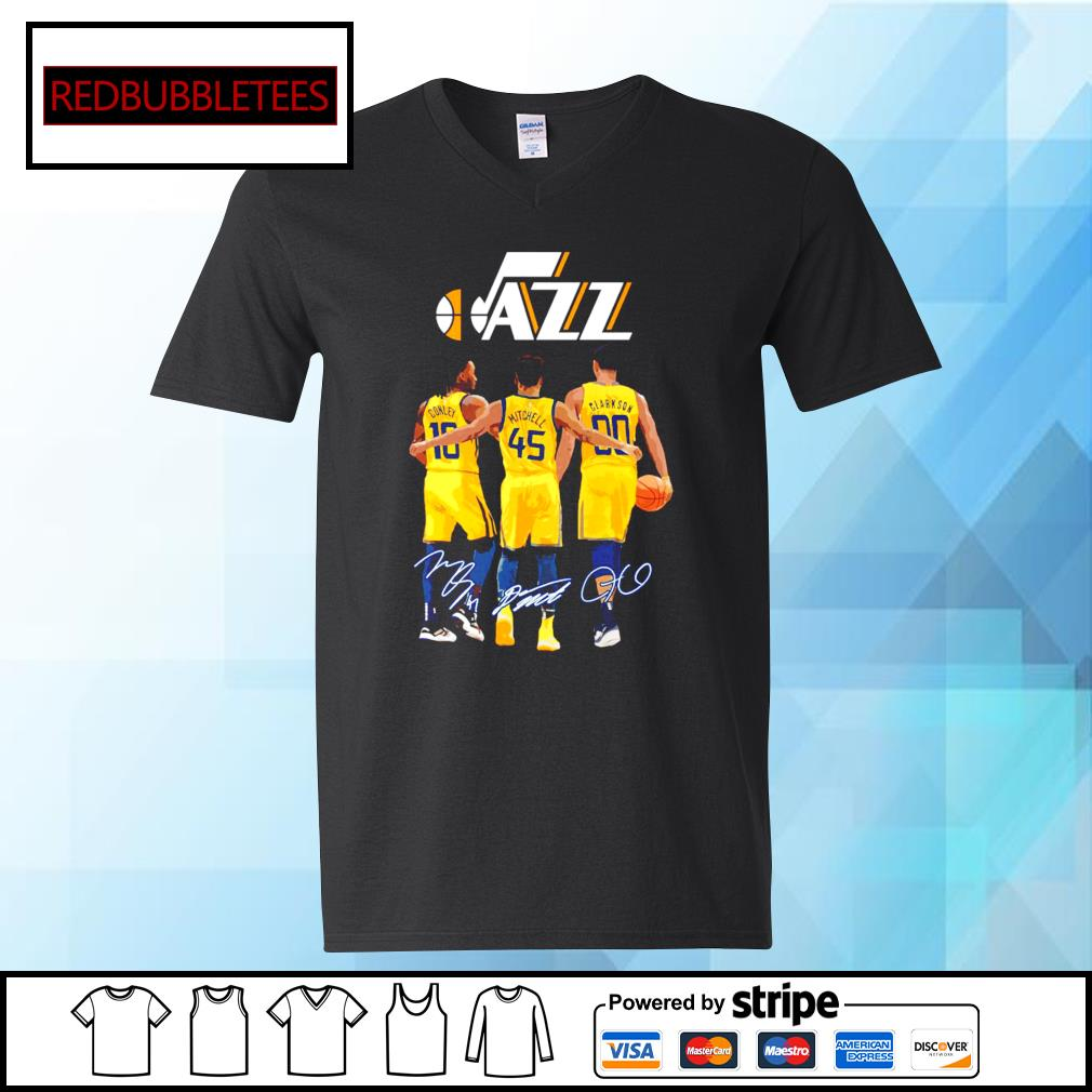 Utah Jazz Conley and Mitchell and Clarkson signature V-neck T-shirt