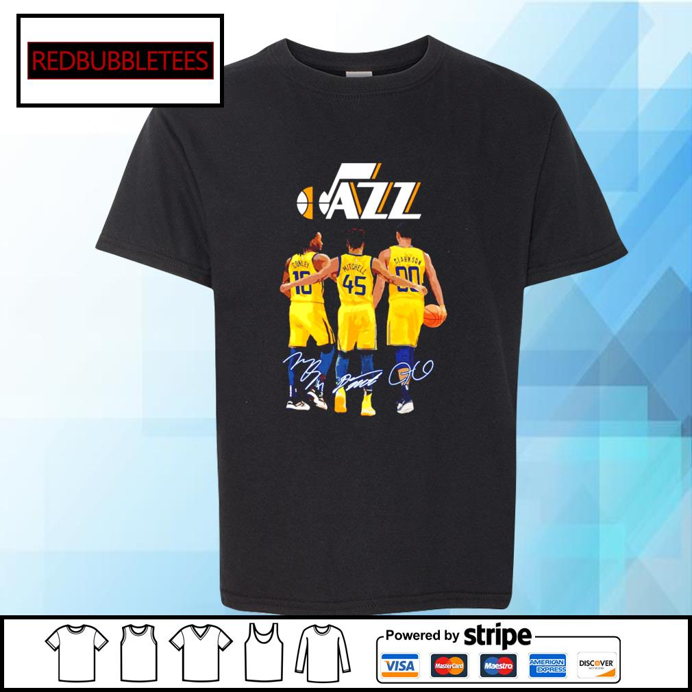 Utah Jazz Conley and Mitchell and Clarkson signature Youth-tee