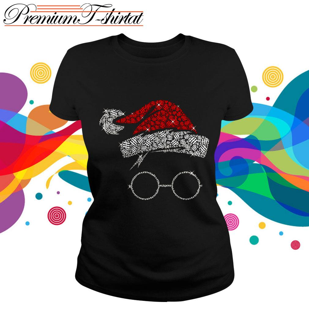 Rhinestone Harry Potter Christmas ladies tee
