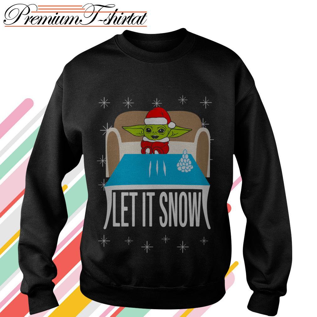 Baby Yoda Cocain let it snow sweater