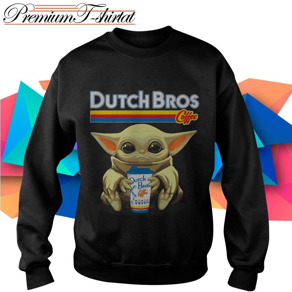 Baby Yoda hug Dutch Bros Coffee Sweater
