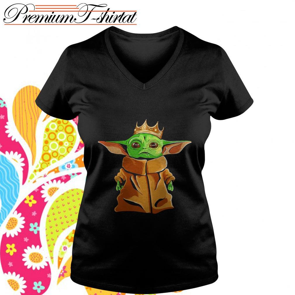 Baby Yoda Notorious B.I.G. parody V-neck T-shirt