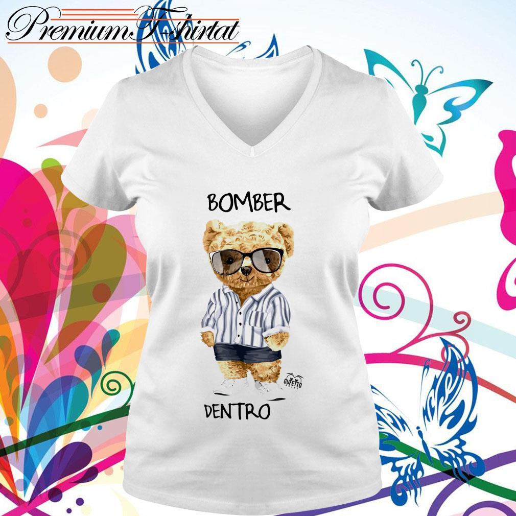 Bear Bomber Dentro V-neck T-shirt