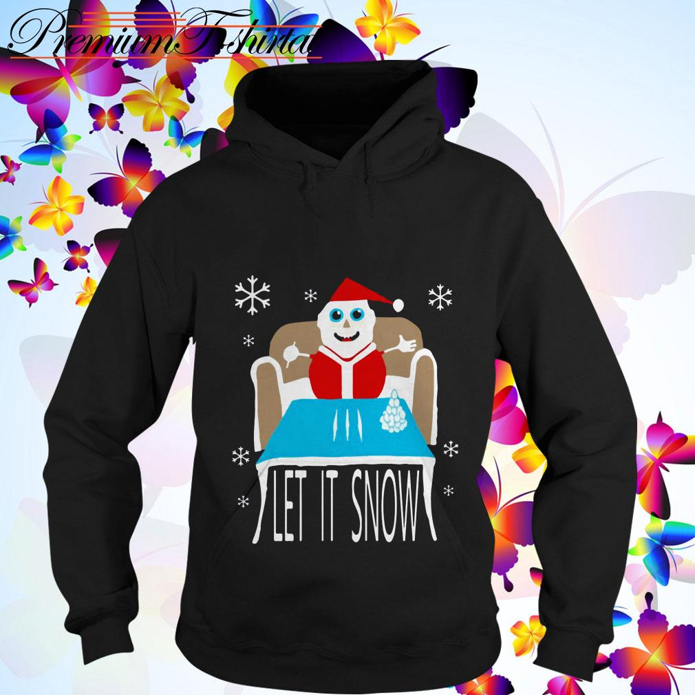 Cocaine Santa let it snow hoodie