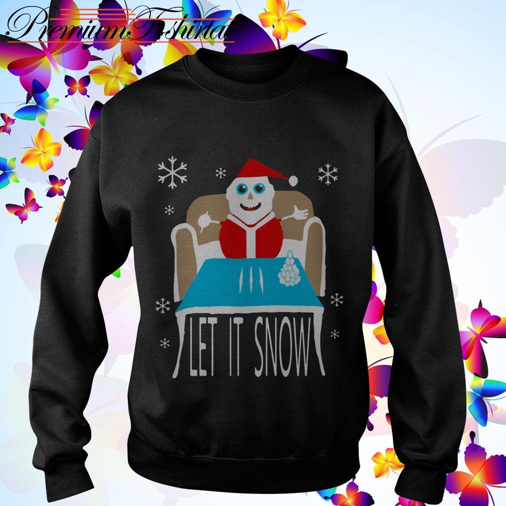 Cocaine Santa let it snow sweater