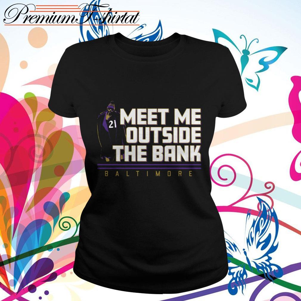 Mark Ingram Meet me outside the Bank Baltimore Ladies tee