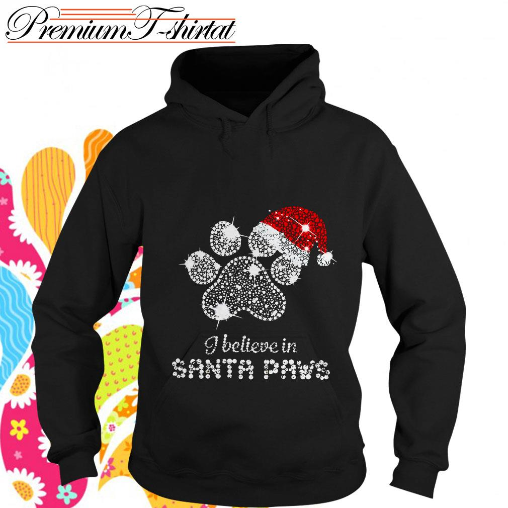 Rhinestone I believe in Santa paws shirt, hoodie