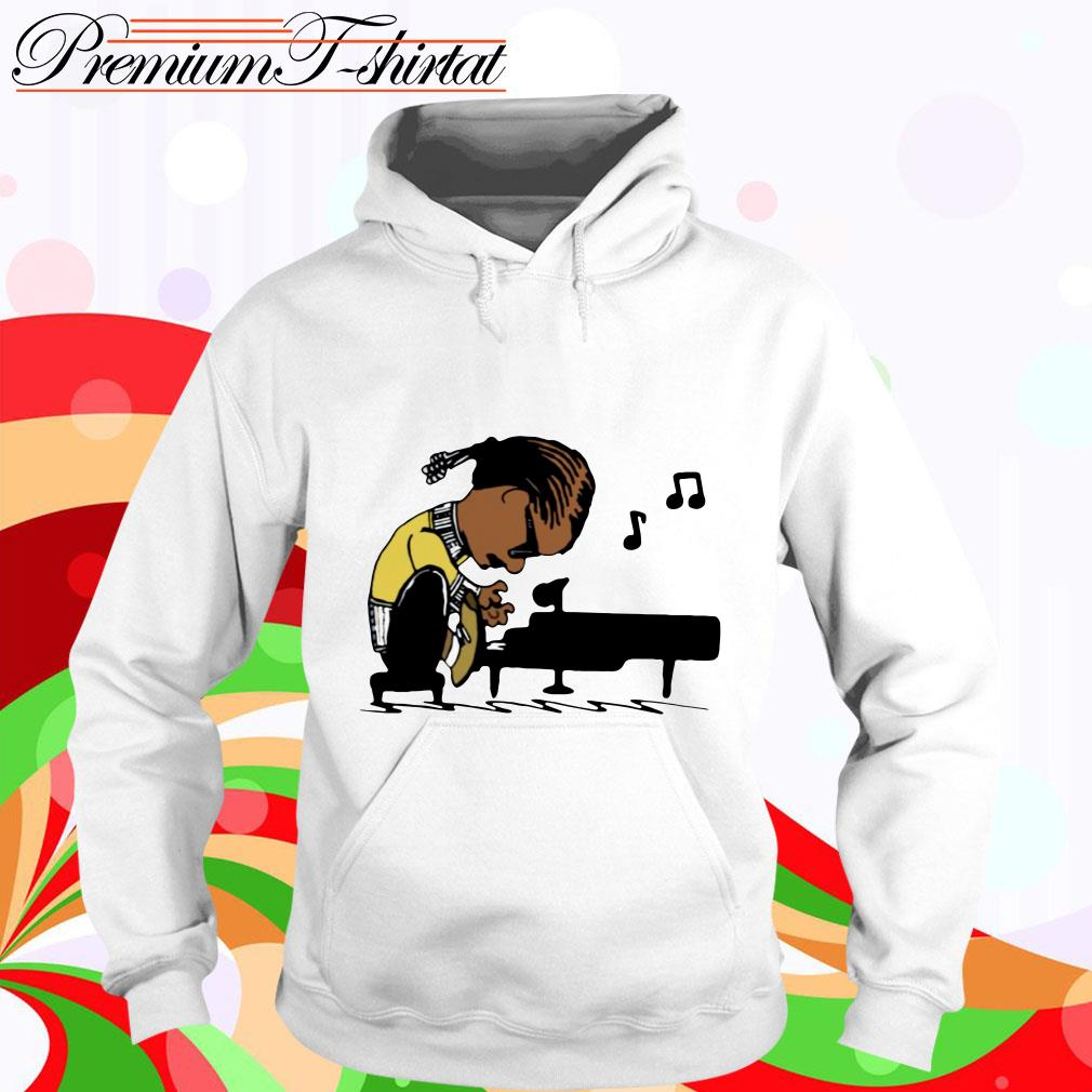 Snoop Dogg playing piano hoodie