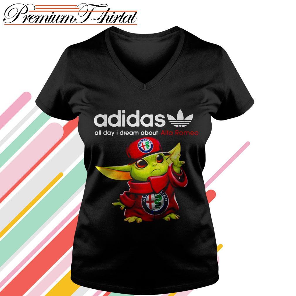 Baby Yoda Adidas all day I dream about Alfa Romeo shirt, hoodie