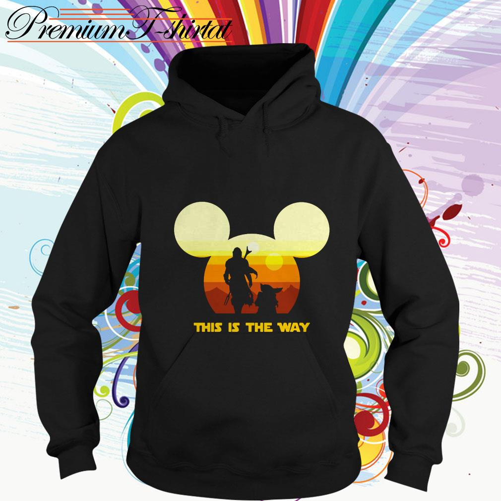 Mickey sunset The Mandalorian this is the way Hoodie