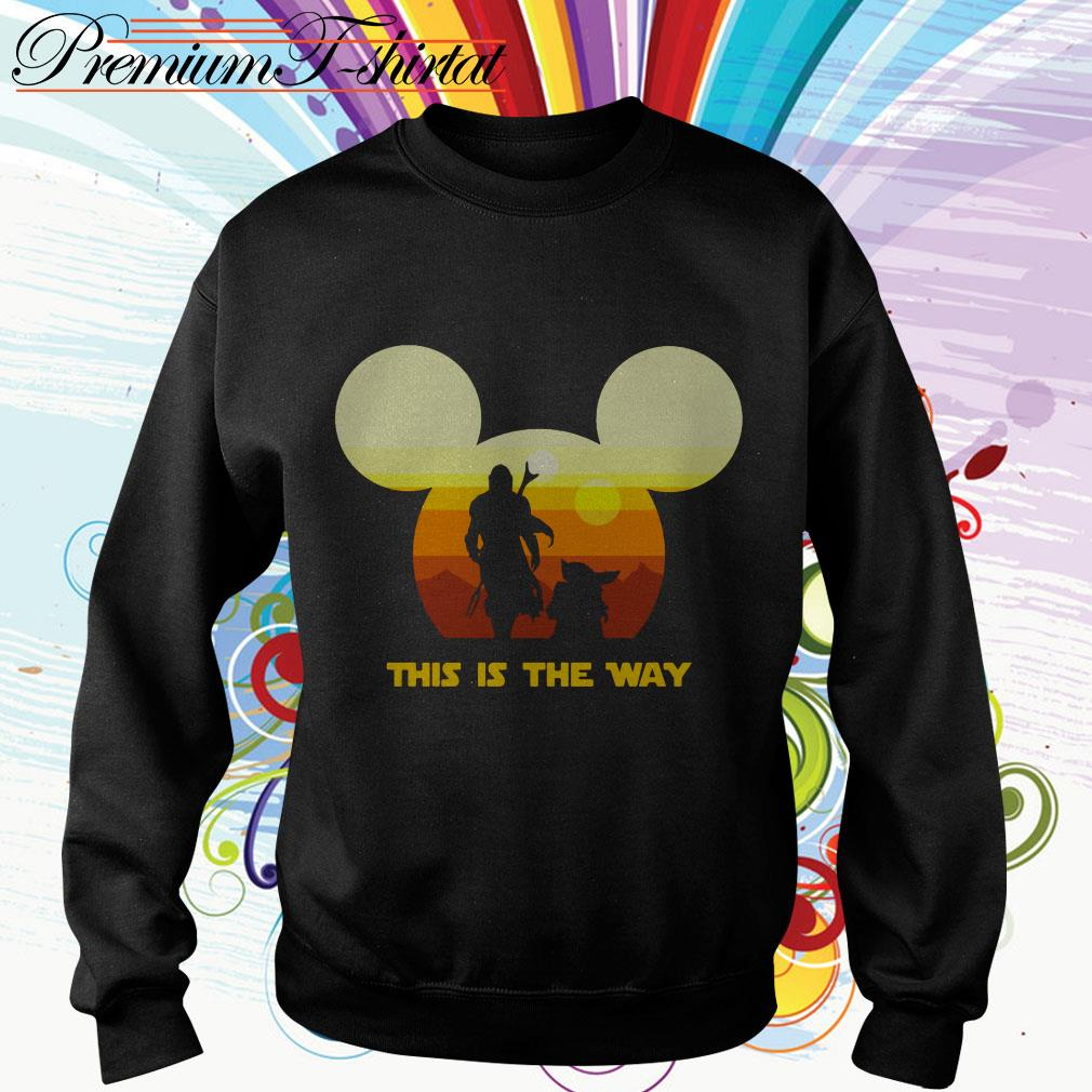 Mickey sunset The Mandalorian this is the way Sweater