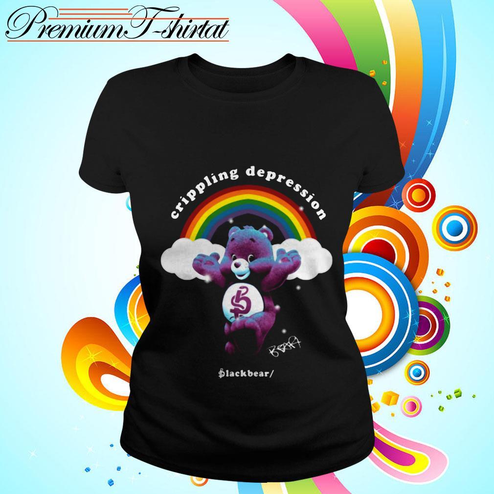 Rainbow crippling depression black bear signature Ladies tee