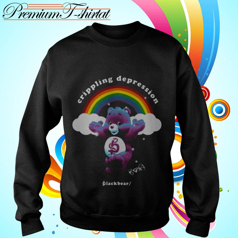 Rainbow crippling depression black bear signature Sweater