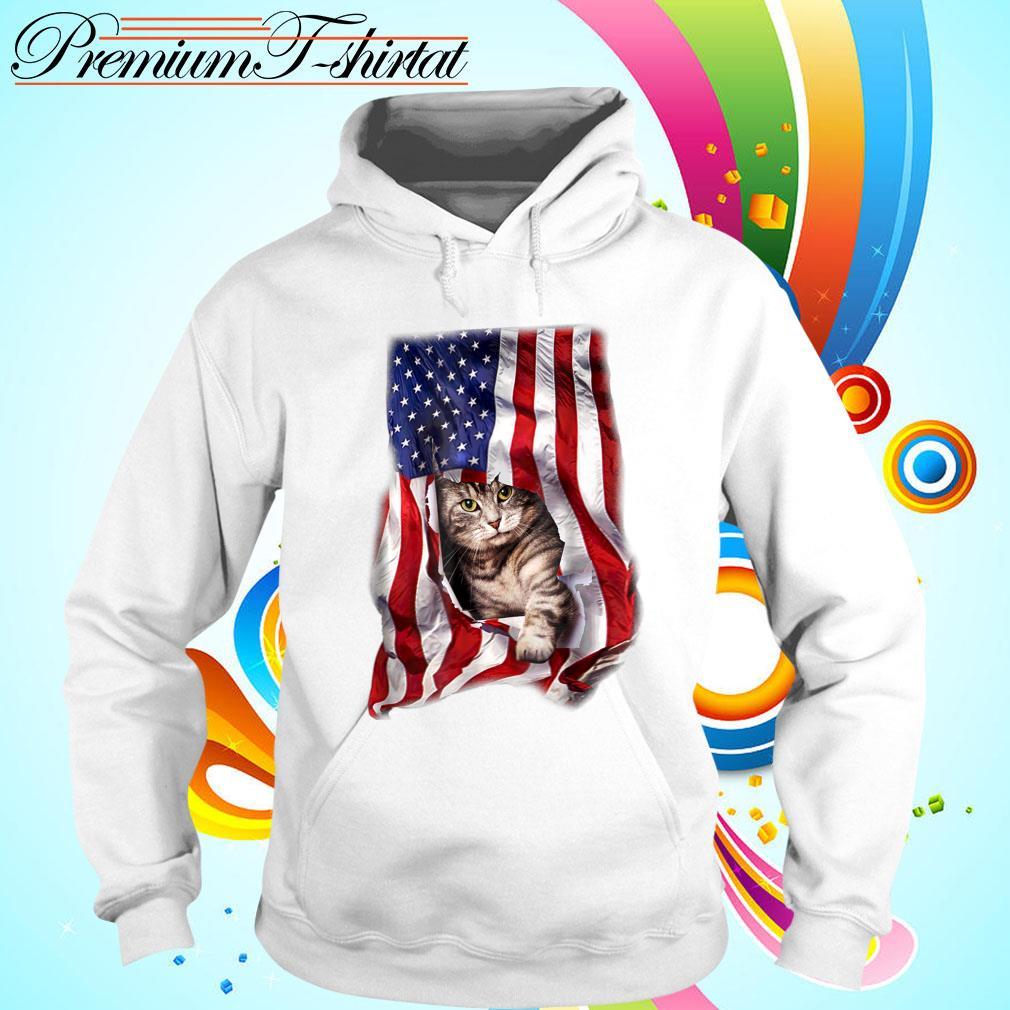 American Cat Flag Shirt hoodie