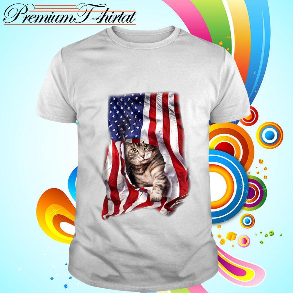 American Cat Flag Shirt