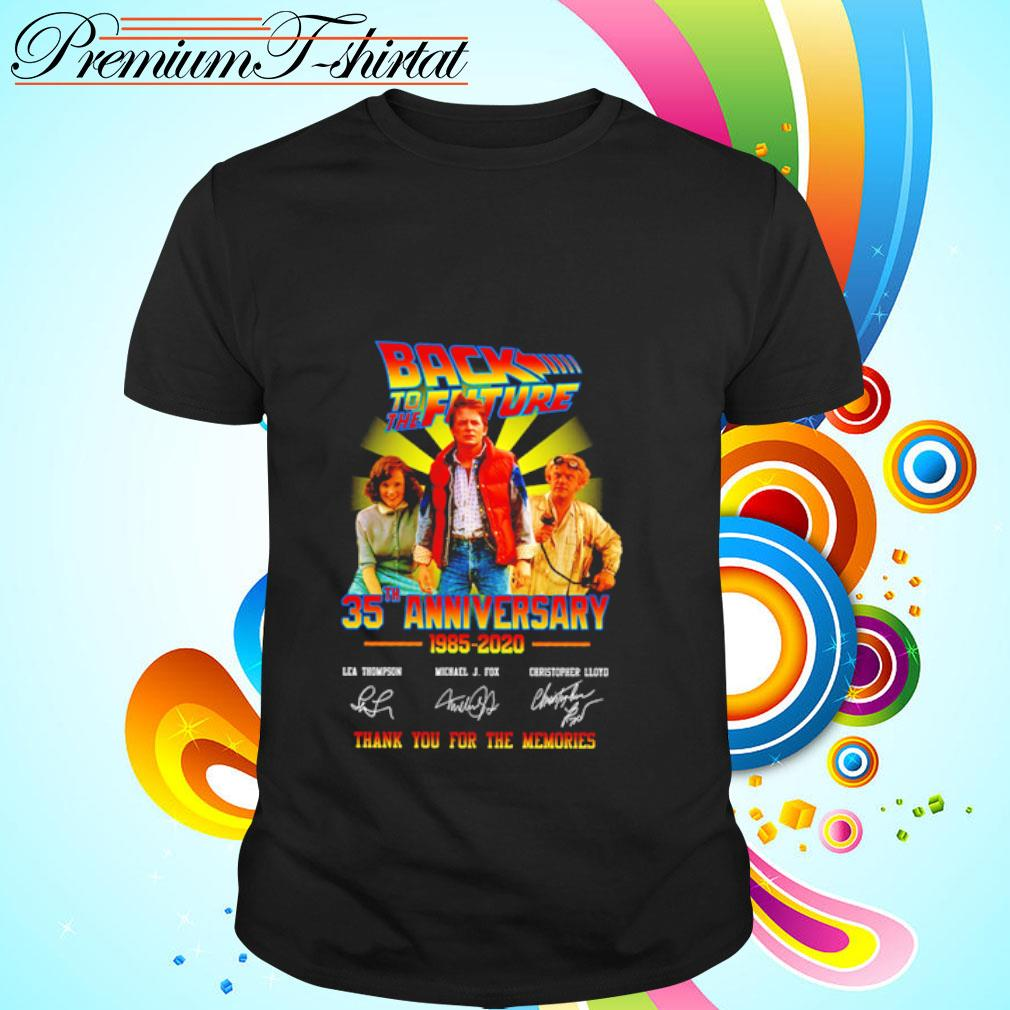 Back to the future 35th anniversary 1985-2020 thank you for the memories shirt