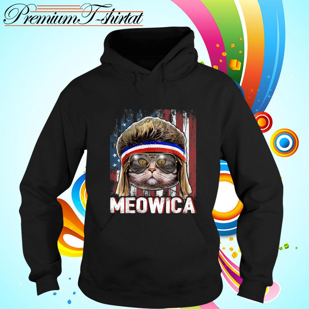 Cat Meowica American Flag 4th Of July Independence Day s hoodie