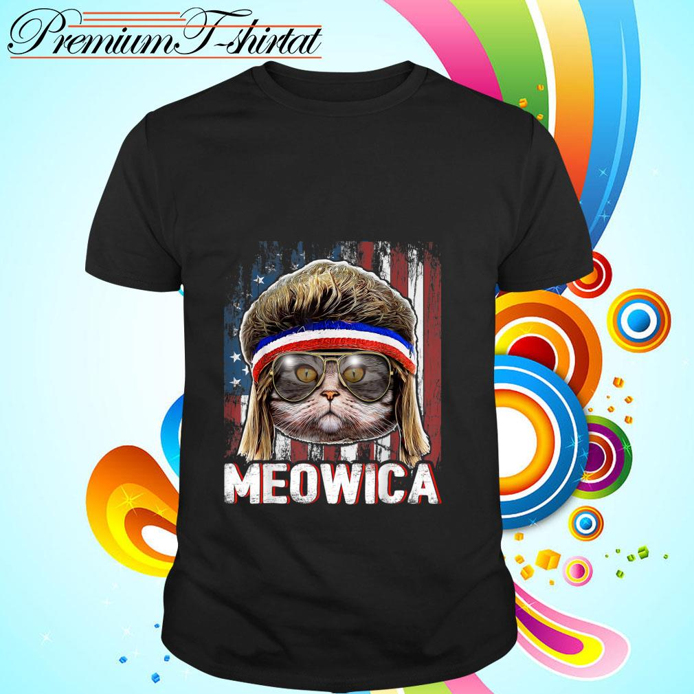 Cat Meowica American Flag 4th Of July Independence Day shirt