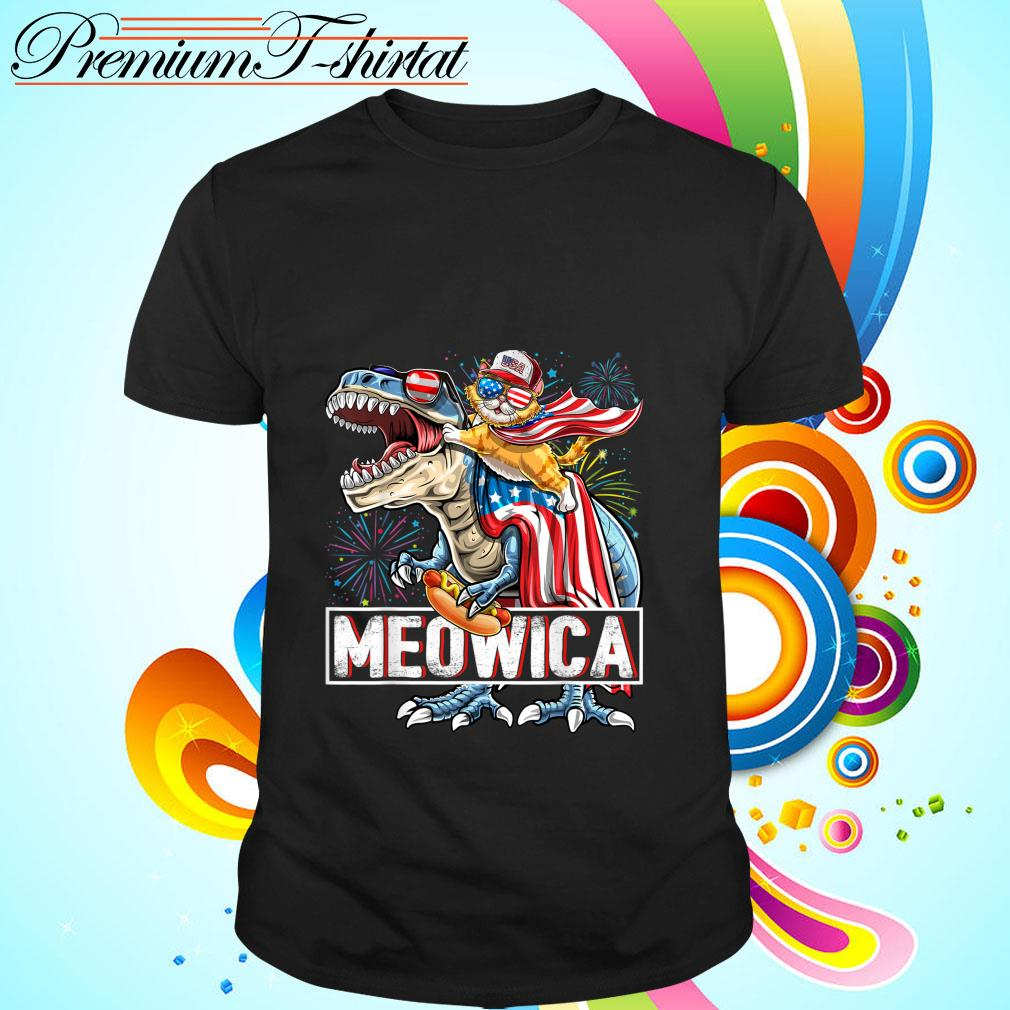 Meowica Amerisaurus Rex Happy Independence Day Shirt
