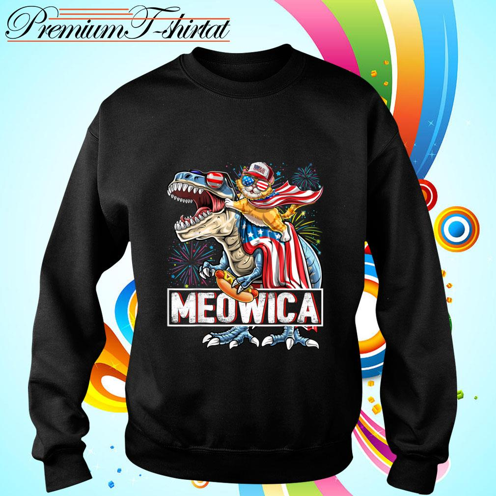 Meowica Amerisaurus Rex Happy Independence Day Shirt sweater