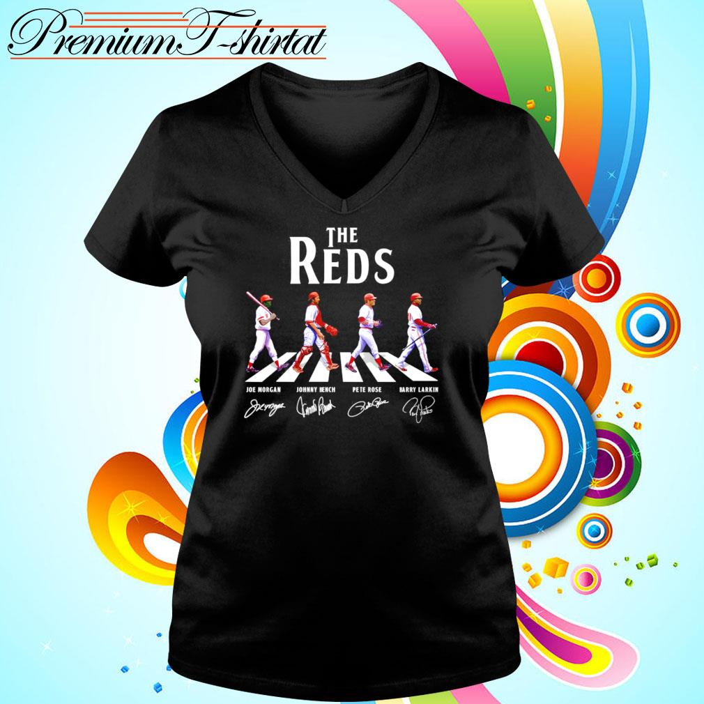 The Reds Abbey Road signatures v-neck-t-shirt