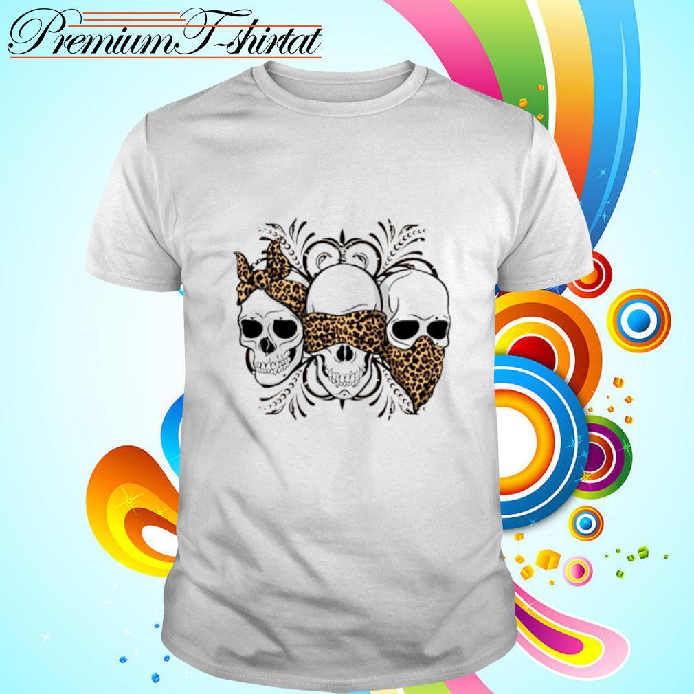 Leopard three skulls shirt