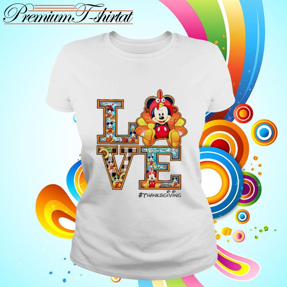 Mickey mouse Love thanksgiving s ladies tee