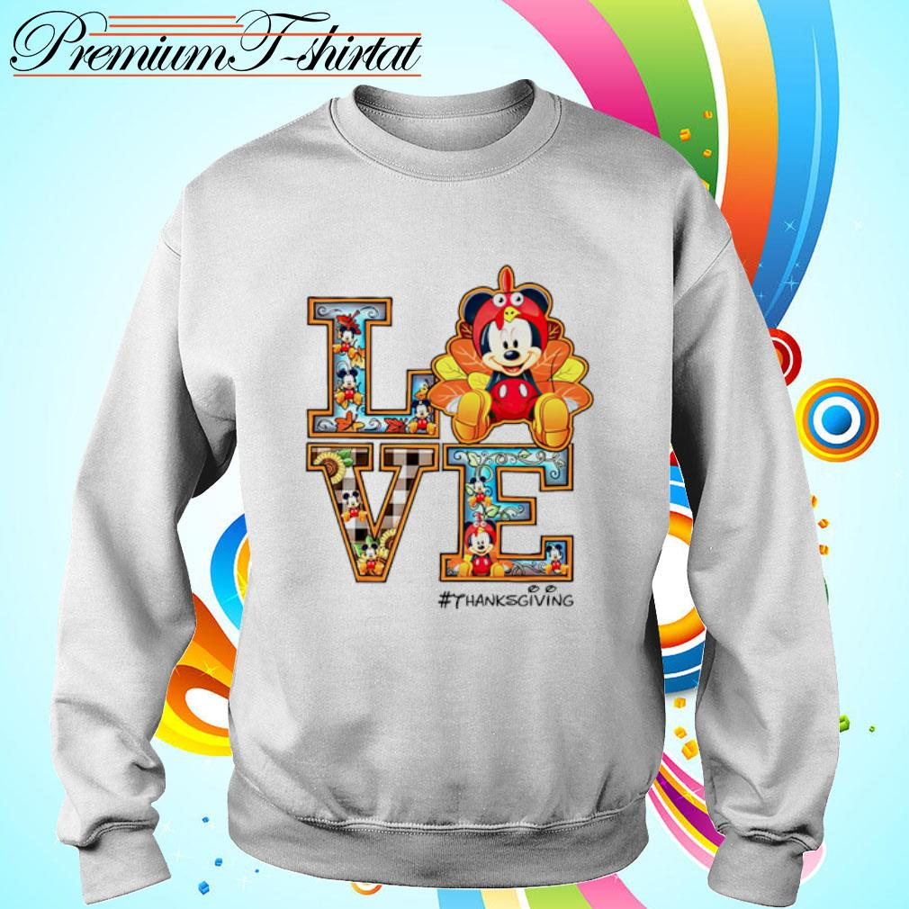 Mickey mouse Love thanksgiving s sweater