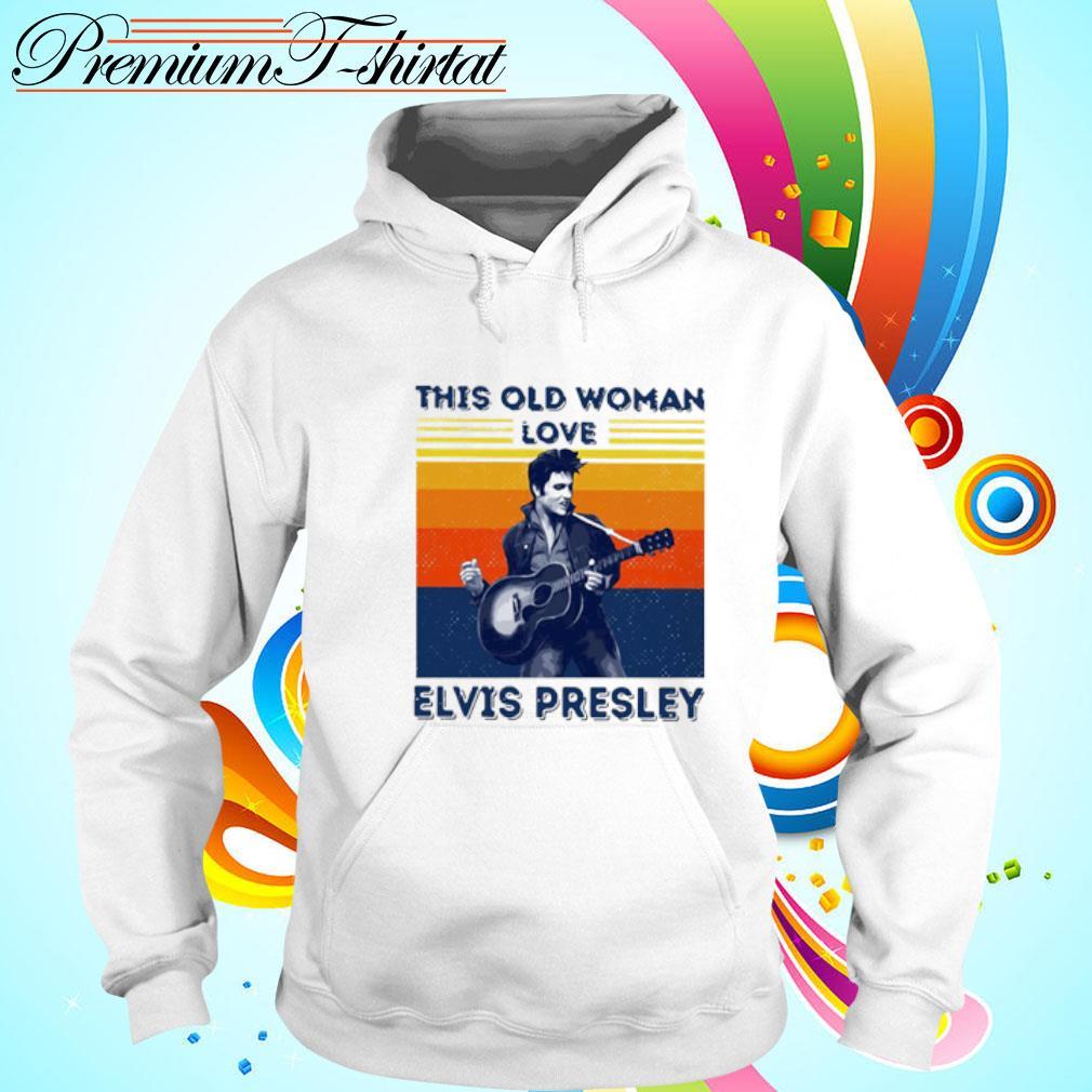 This Old Woman Love Elvis Presley Vintage Shirt hoodie