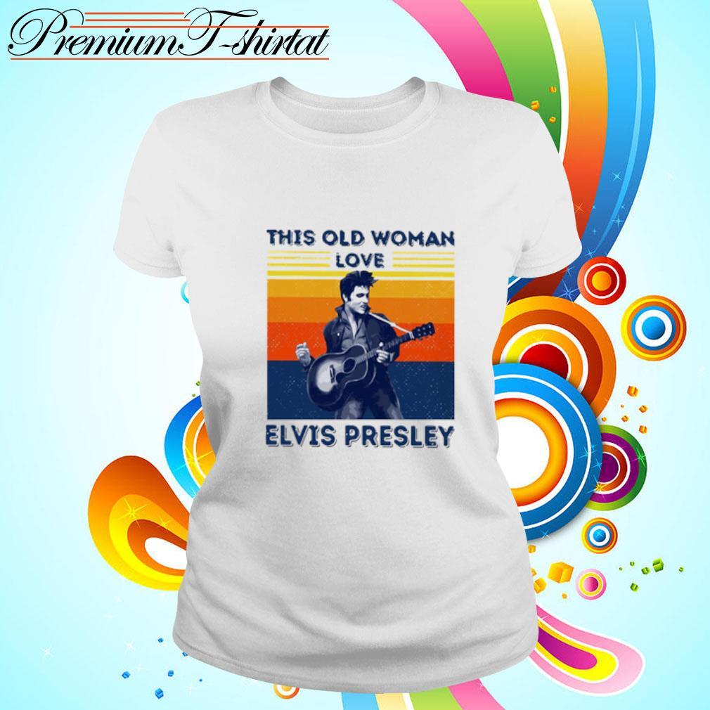 This Old Woman Love Elvis Presley Vintage Shirt ladies tee