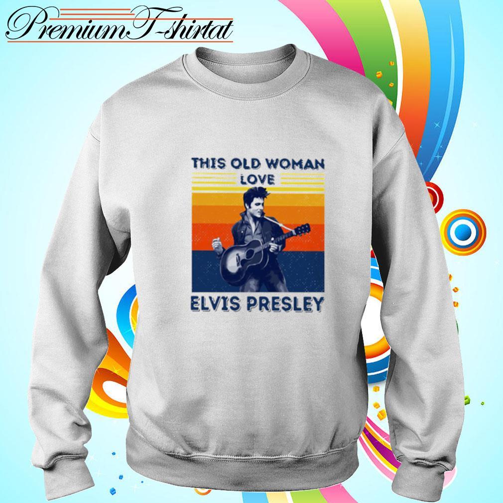 This Old Woman Love Elvis Presley Vintage Shirt sweater
