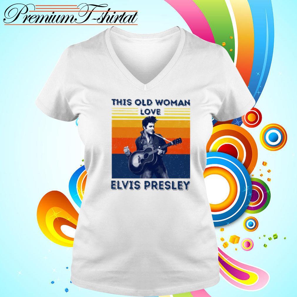 This Old Woman Love Elvis Presley Vintage Shirt v-neck t-shirt