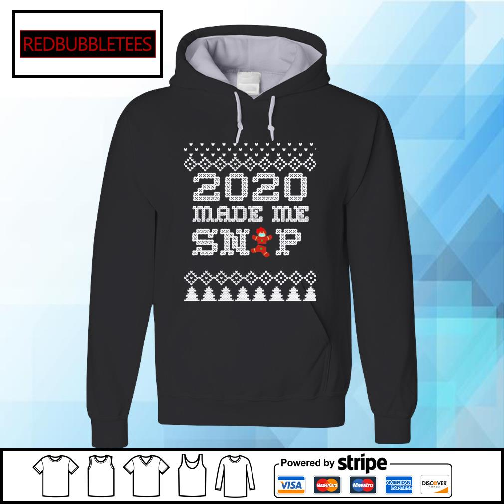 2020 Christmas Very Bad Year Ugly Cross Stitch Gingerbread s Hoodie
