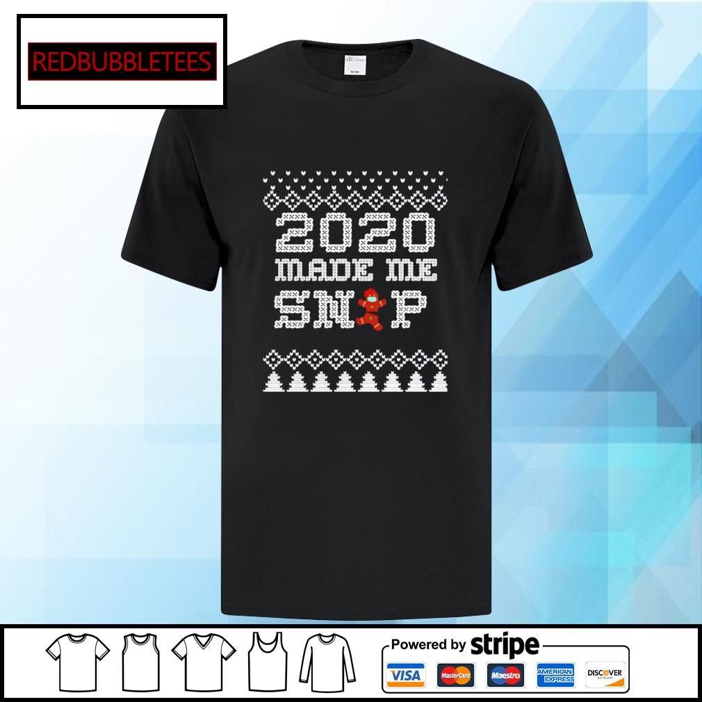 2020 Christmas Very Bad Year Ugly Cross Stitch Gingerbread shirt