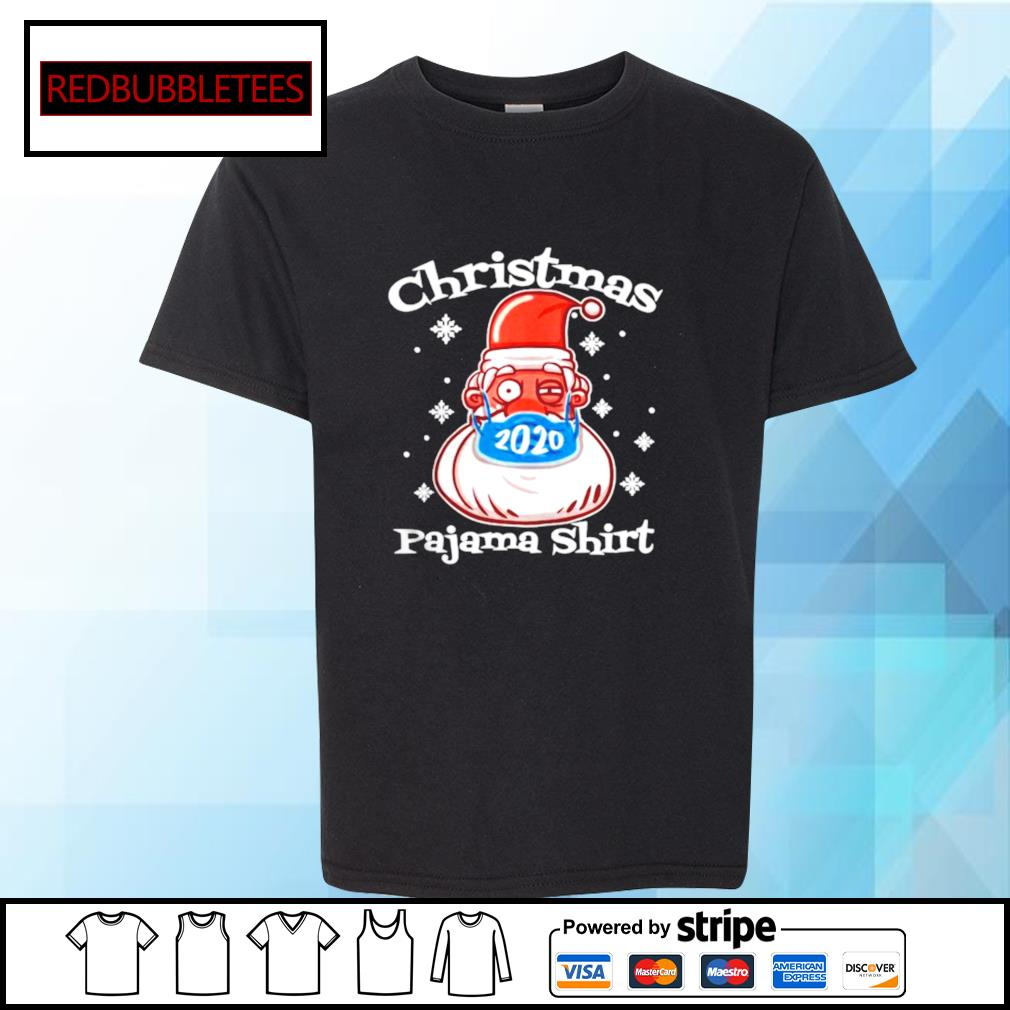 Christmas Pajamas Santa With Face Mask 2020 Xmas s Youth-tee