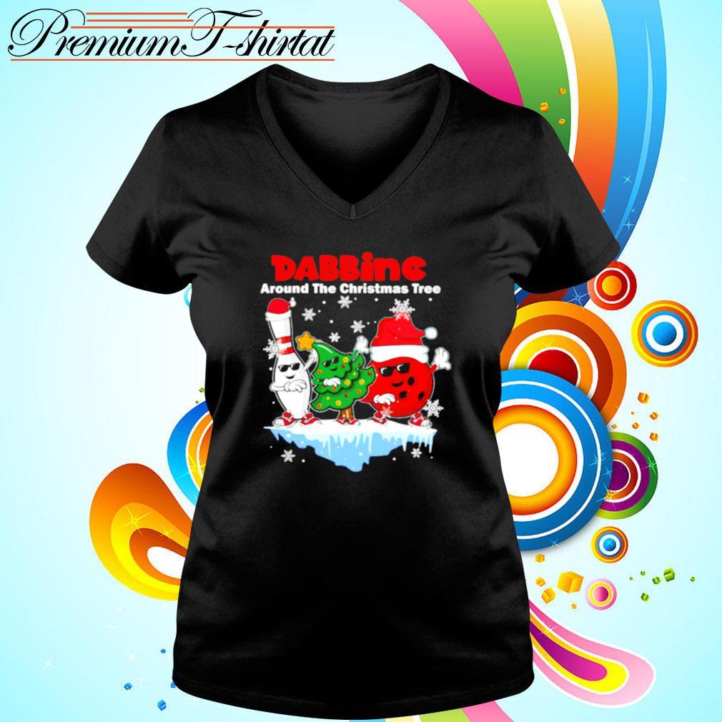 Dabbing Around The Christmas Tree s v-neck-t-shirt