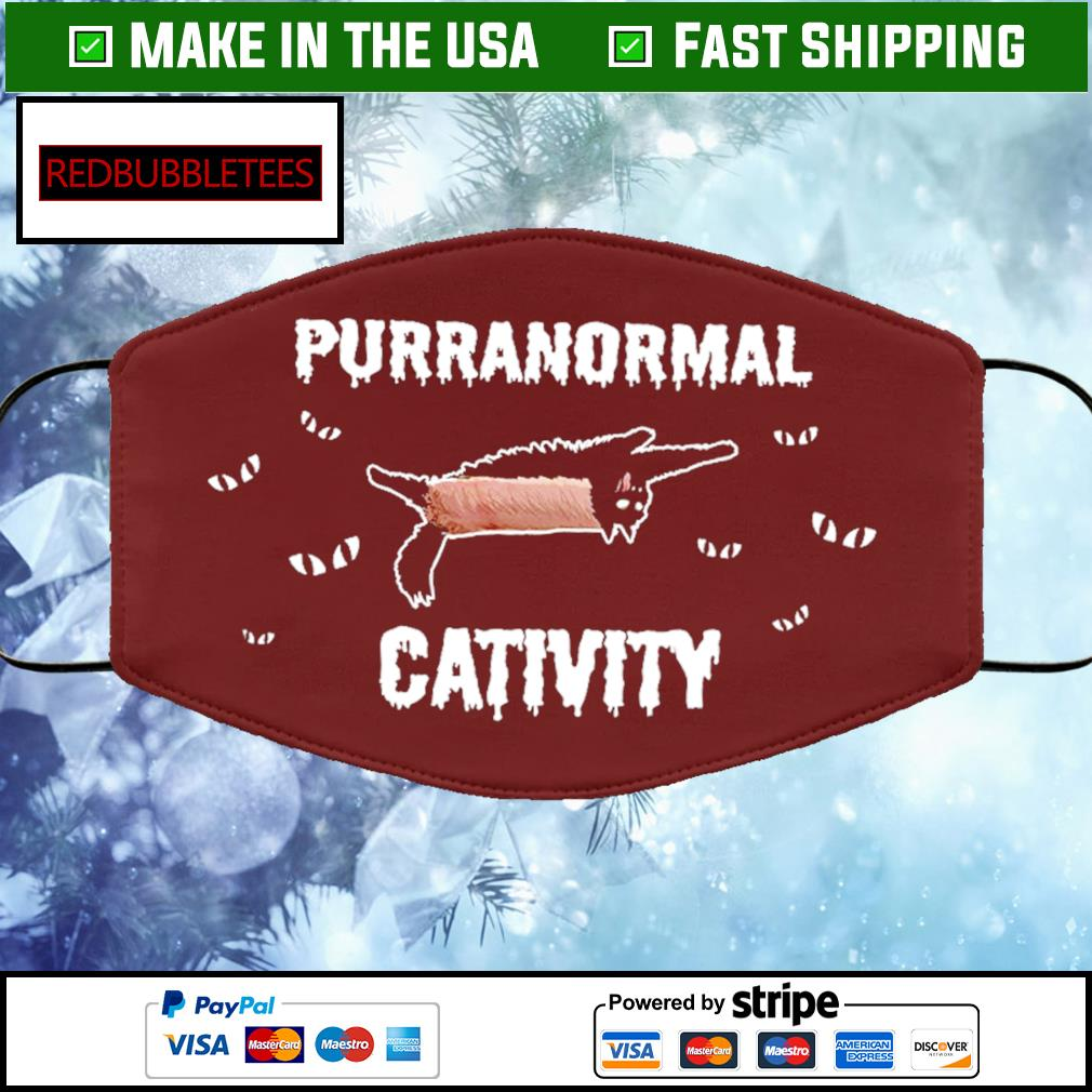 Purranormal Cativity face mask brown