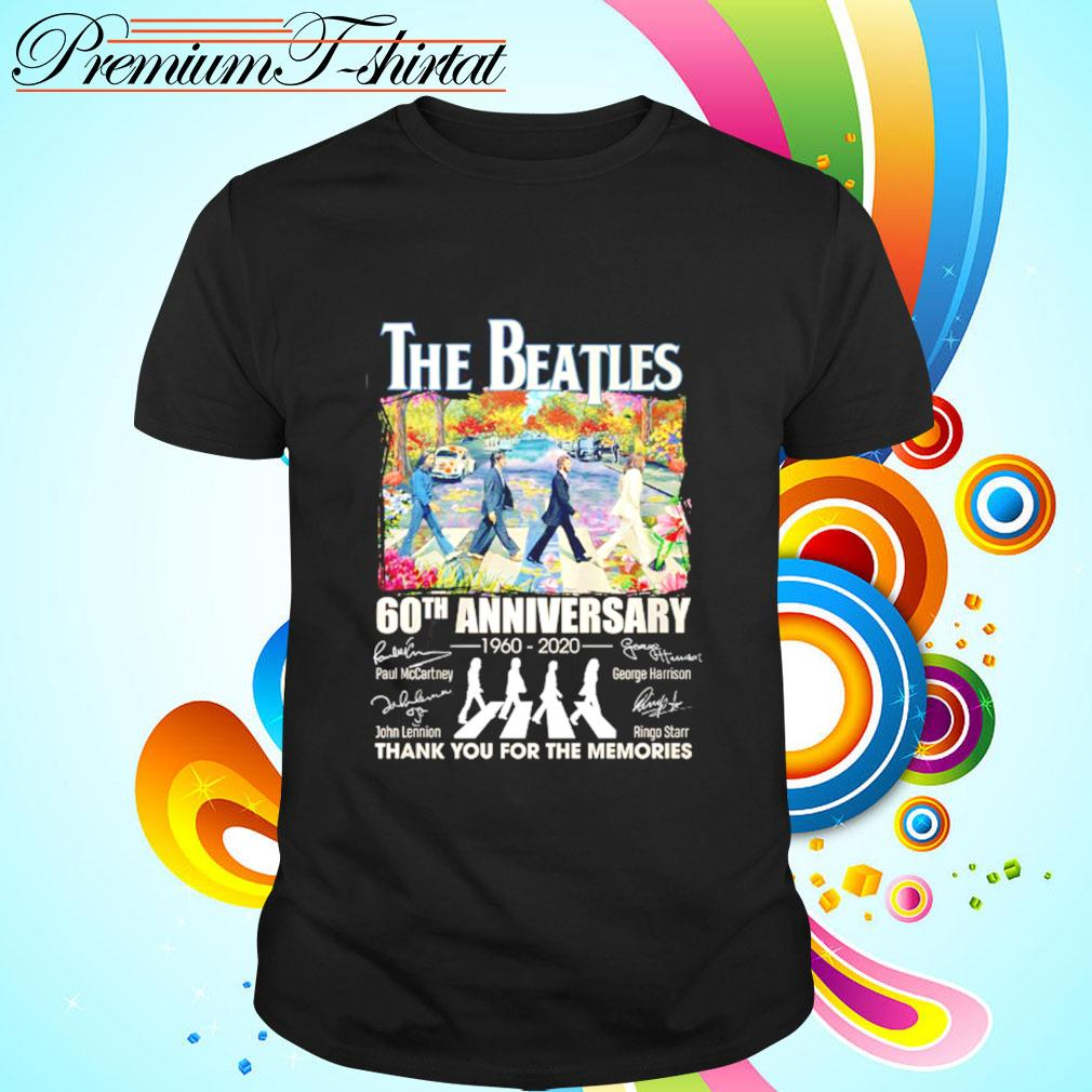 The Beatles 60th anniversary signature thank you for the memories shirt