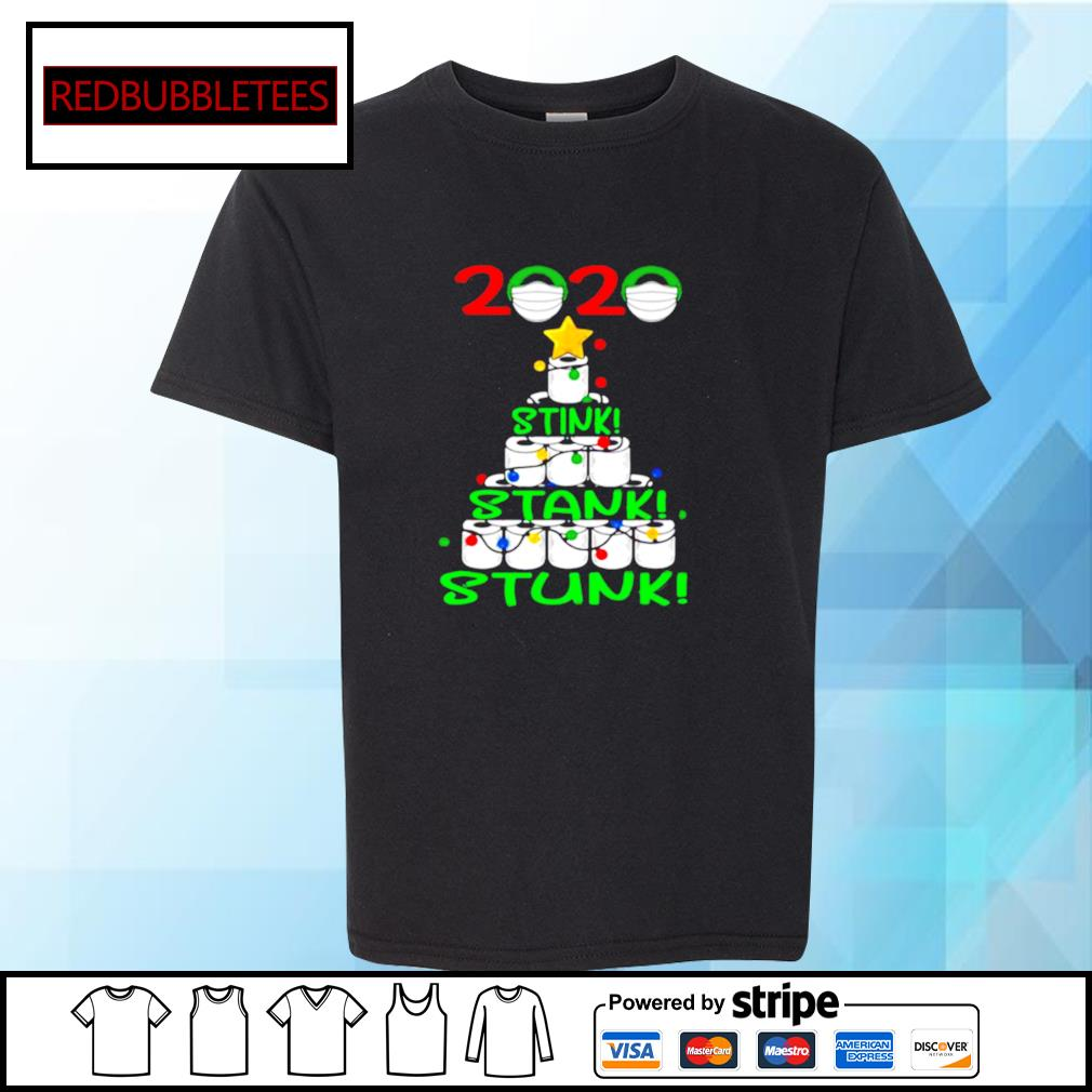 2020 Stink Stank Stunk Funny Quarantine Ugly Christmas Tree s Youth-tee