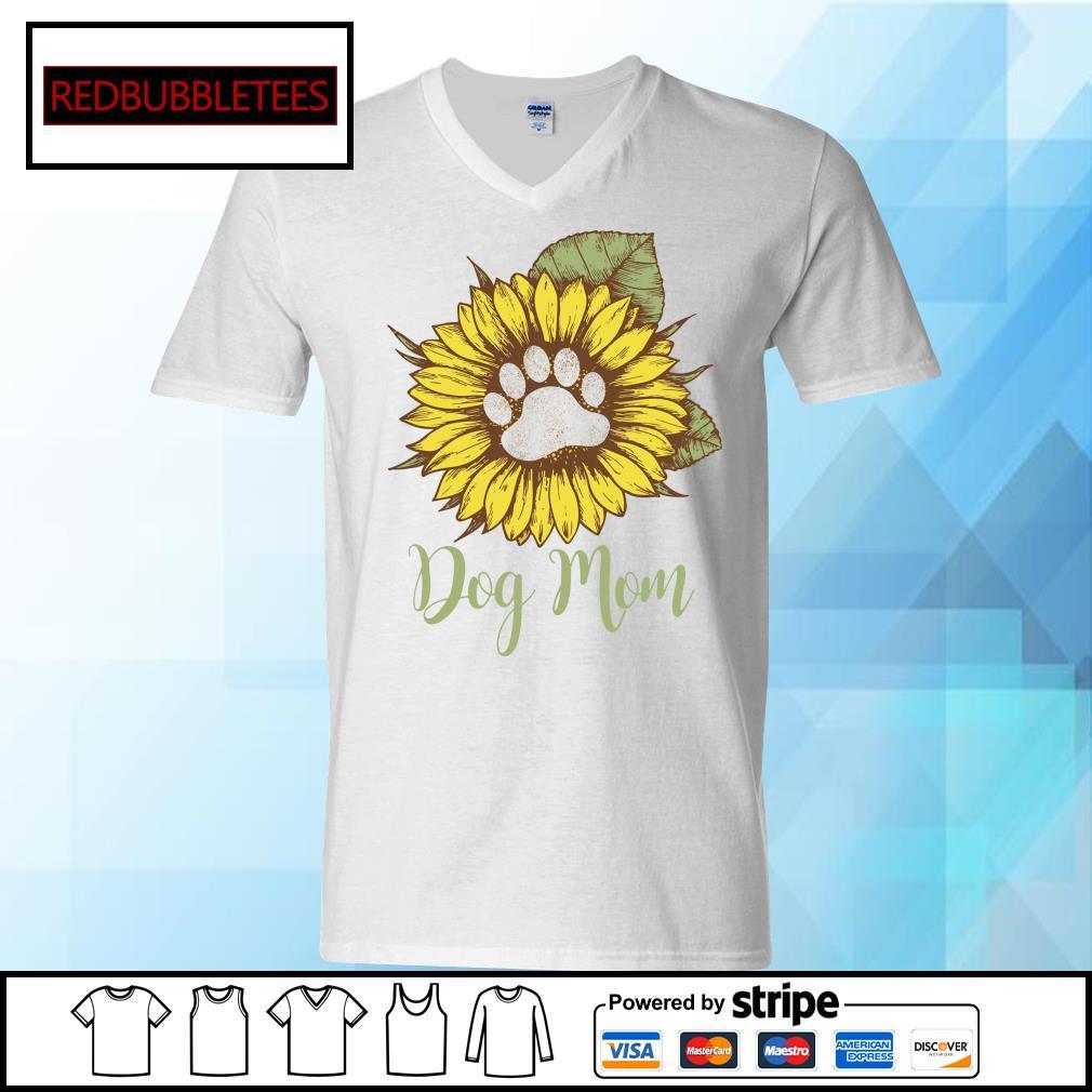 Dachshund Sunflower dog mom s V-neck T-shirt