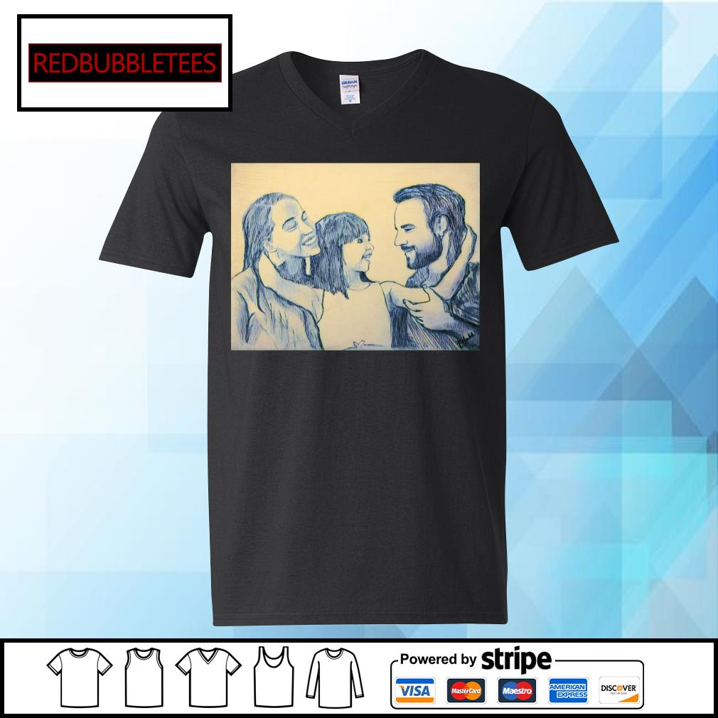 Family mother and father and me s V-neck T-shirt