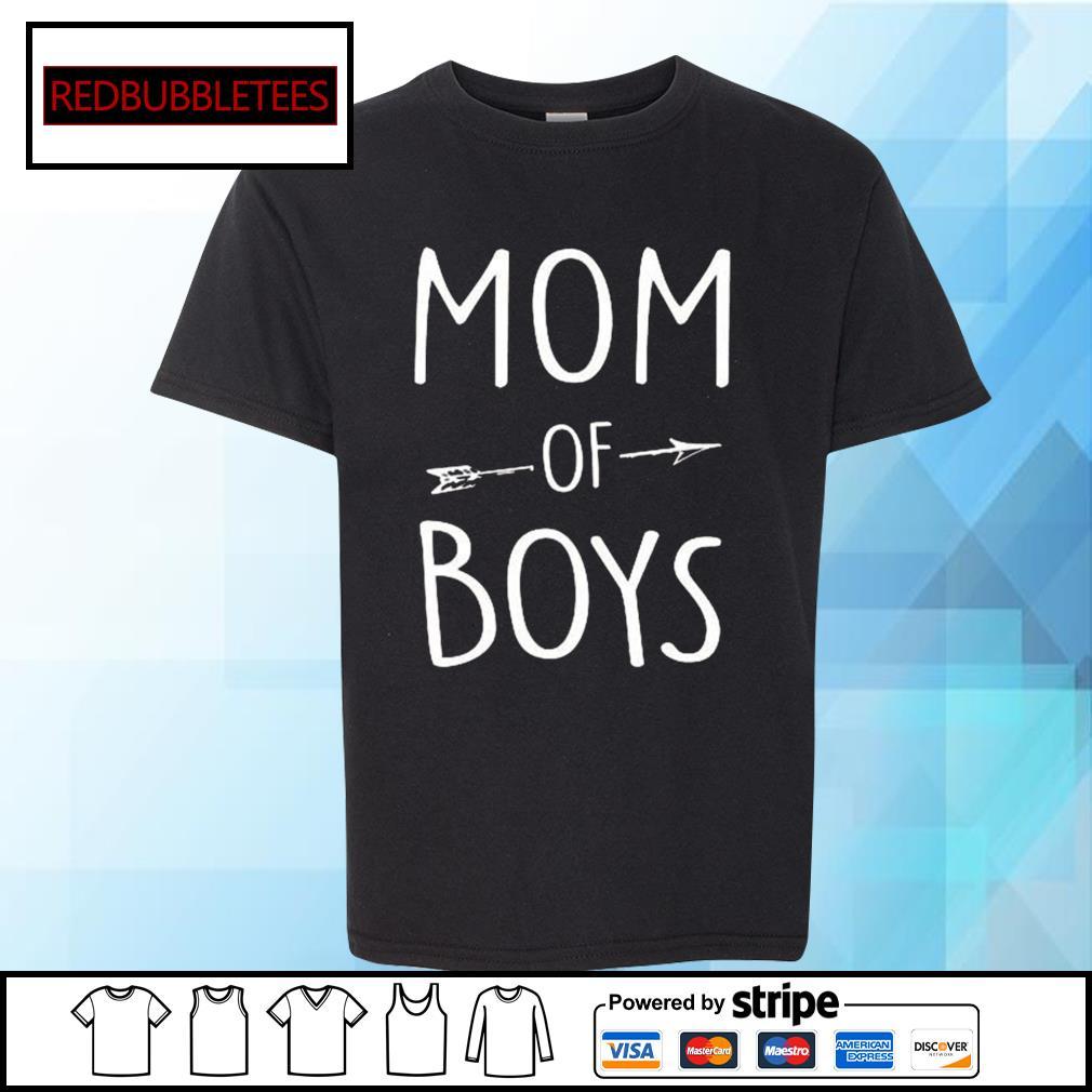 Mom of boys s Youth-tee