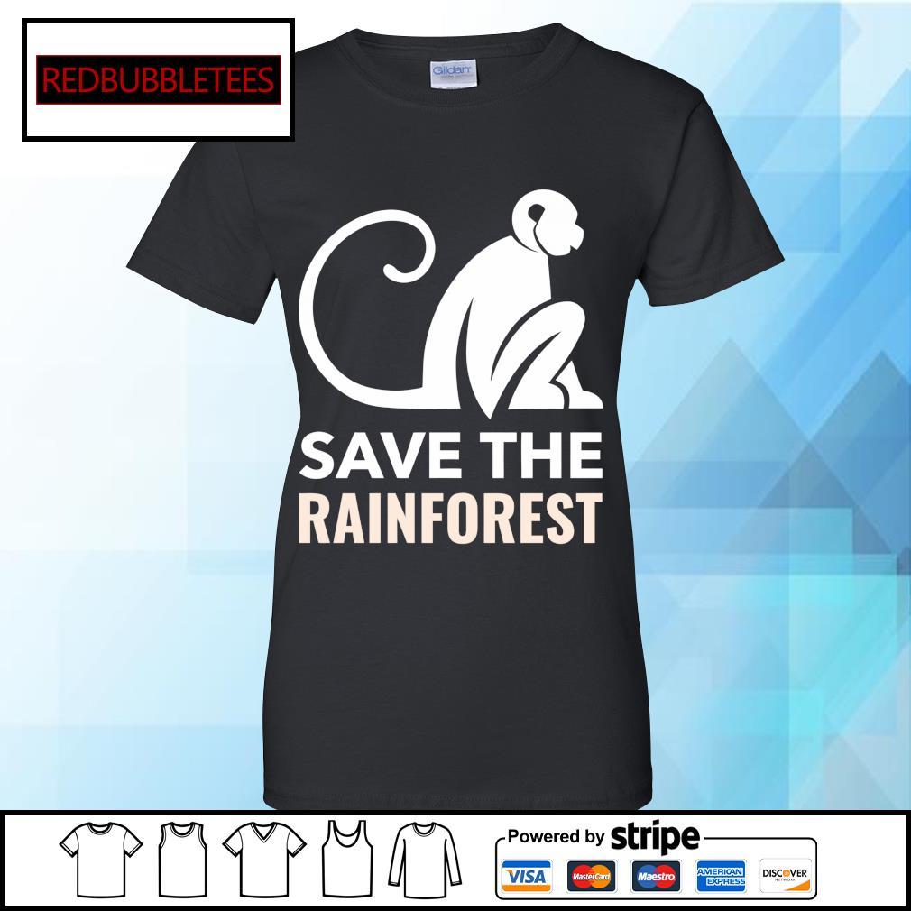 Monkey save the rainforest s Ladies tee