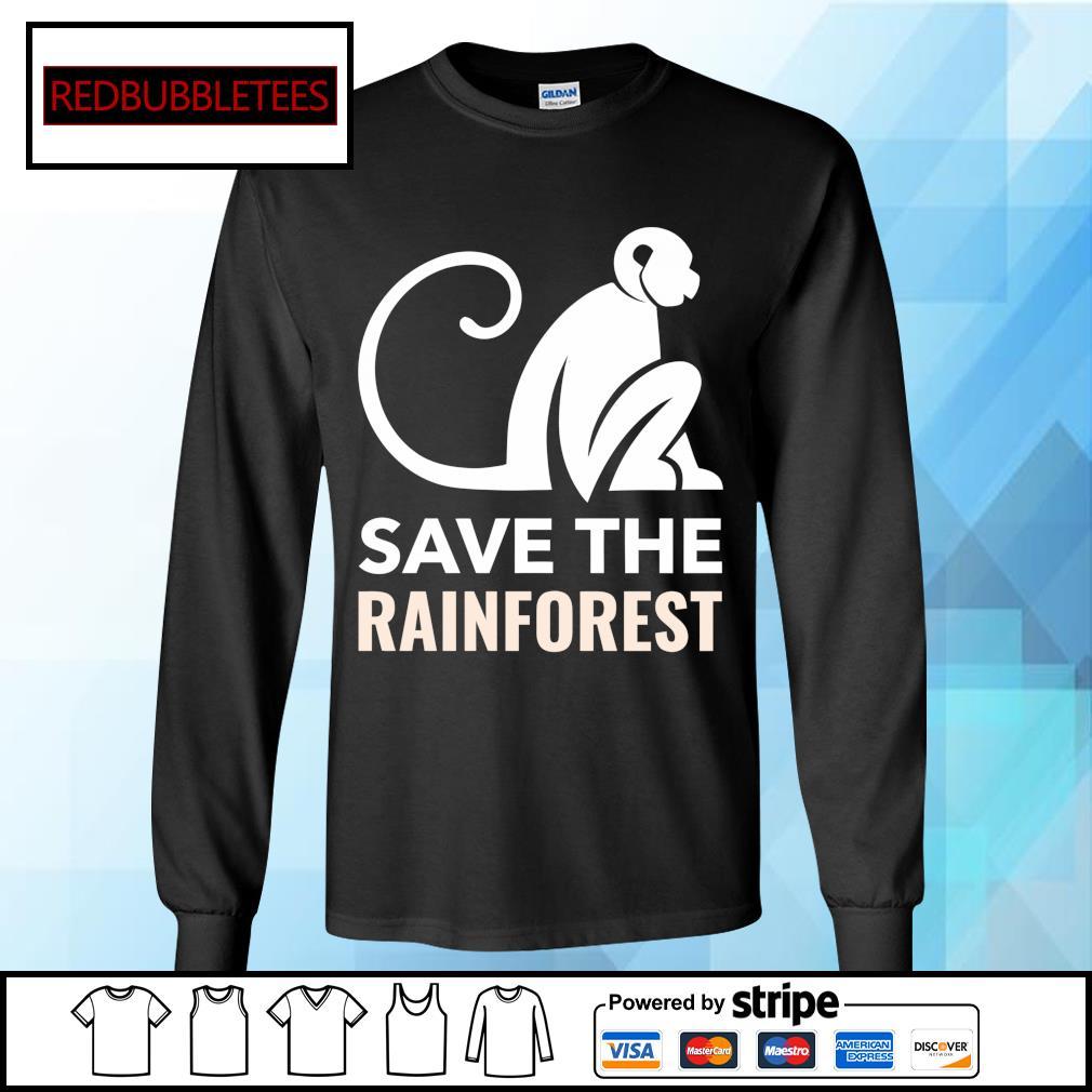 Monkey save the rainforest s Longsleeve-tee