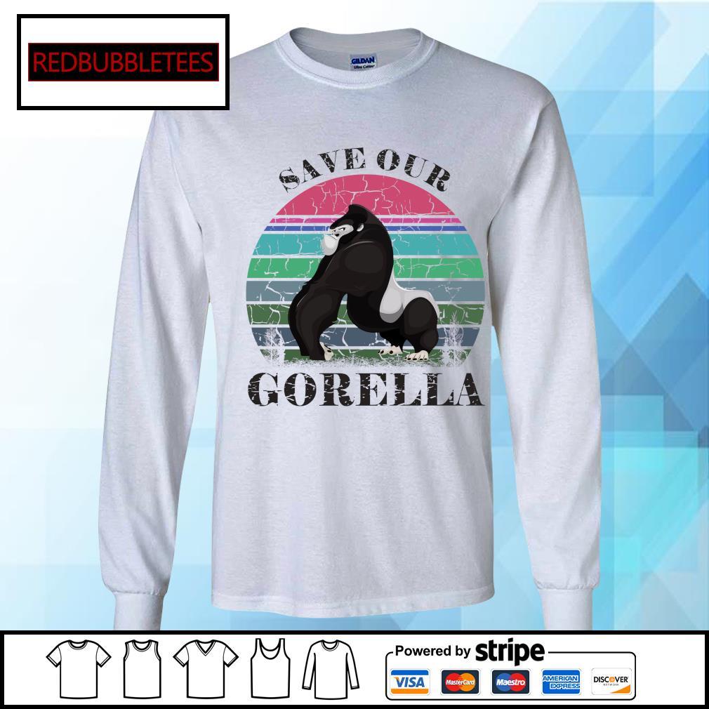 Save our Gorella vintage s Longsleeve-tee
