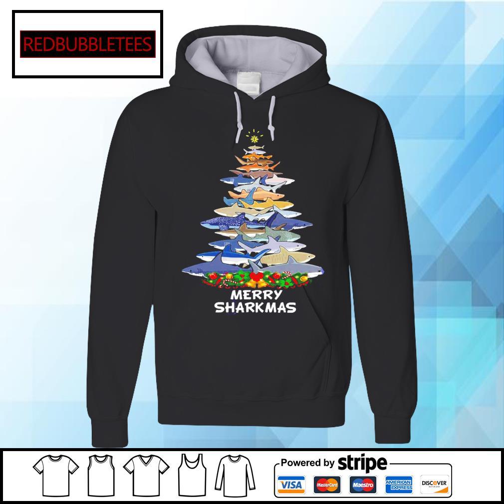 Sharks Merry Sharkmas Tree Christmas Shirt Hoodie